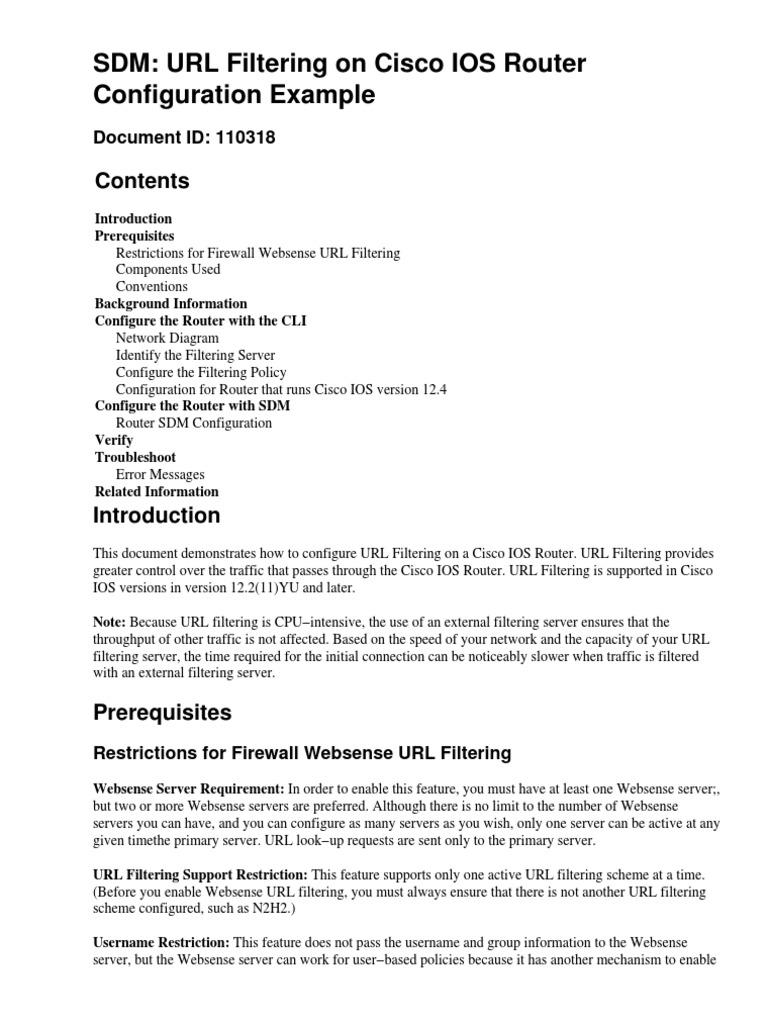 Cisco Ios Url Filtering | Web Server | Firewall (Computing)
