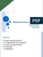 Importanta pH-Ului in Organism