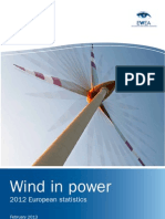 Wind in Power Annual Statistics 2012