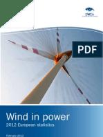 Wind in Power Annual Statistics 2012