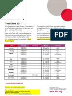 Ilets Test Dates