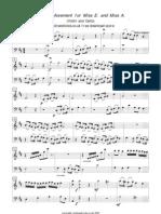 eandavlnvlcA Duet Movement for  (Violin and Cello)