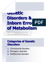 (2) 1.Genetic Disorders & Inborn Errors of Metabolism