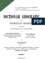 Dictionar Geografic Al Judetului PRAHOVA
