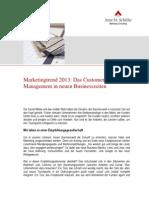 Artikel Marketingtrend2013Marketingtrend 2013: Das Customer Touchpoint Management in neuen Businesszeiten