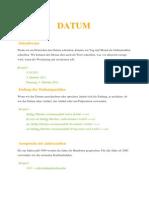 Daten und Ordungzahlen