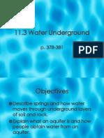 11.3 Water Underground