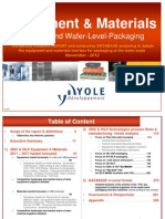 Yole Equipment Materials for 3DIC Wafer Level Packaging Sample October 2012