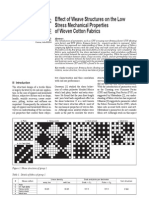 Effect of Weave Structures on the Low Stress Mechanical Properties of Woven Cotton Fabrics