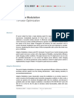 Ceragon Adaptive Modulation TX Power Optimization -Technical Brief