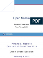 USPS FY 2013 1st Quarter Financials Presentation