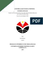 Evaluasi Pembelajaran Bahasa Indonesia