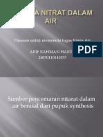 Analisa Nitrat Dalam Air