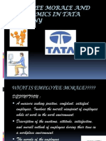 Employee Morale and Ergonomics in Tata