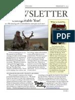 Feb 2013 Newsletter