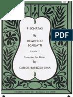 9 Sonatas Vol 2 L 187,L 454,L 23,L 83,Trans Carlos Barbosa Lima - Domenico Scarlatti