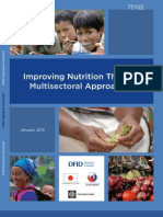Improving Nutrition Through Multisectoral Approaches