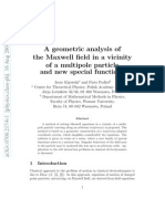 A Geometric Analysis of the Maxwell Field in a Vicinity of a Multipole Particle and New Special Functions