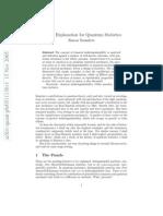 On the Explanation for Quantum Statistics