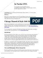 Chicago Style via Purdue OWL