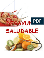 DESYUNO SALUDABLE