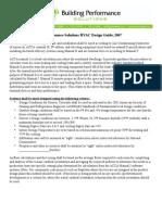 HVAC Design Guidelines