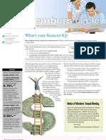 Members Circle, January 2013 Newsletter