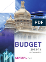 Government of Karnataka Budget - 2013-14