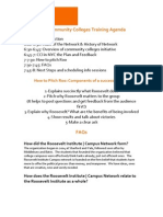 NYC Community Colleges Training Agenda