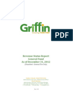 Revenue Status Report FY 2012-2013 - General Fund 20121231