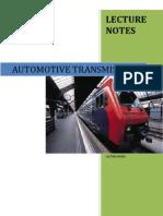 Automotive Transmission -Lecture notes complete.pdf