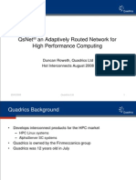Quadrics QsNetIII Adaptively Routed Network for HPC - Presentation