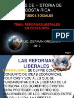 Reformas Liberales en Costa Rica