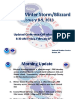 NWS Historic Winter Storm/Blizzard, February 8-9, 2013
