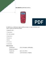 Características Equipos Laboratorio Ins y Maq Electricas
