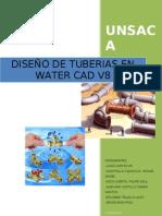 INFORME DISEÑO DE TUBERIAS CON WATERCAD-FLUIDOS 1