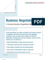 Five Negotiation Mistakes