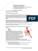 Medical Semiology Review