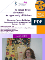 Closing the cancer divide for women