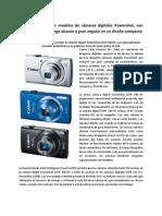 Canon presenta tres modelos de cámaras digitales Powershot