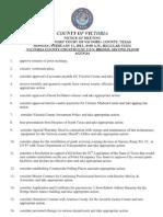 Victoria County Commissioners Court Agenda, Feb. 11, 2013