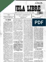 Revista Escuela Libre Num. 1 - Valladolid 1911