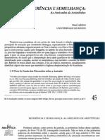 Lefebvre, René, Referência e semelhanca - As amizades de Aristóteles, 2001-2002