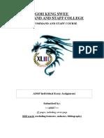 ADSP Essay Assignment