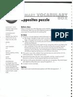 Adjective Opposites Puzzle