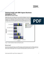 Gaining Insight With IBM Cognos Business Intelligence V10.1
