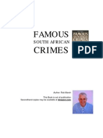 South Africa's Famous Crimes 1903-1987