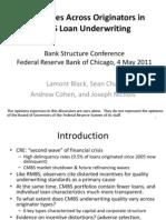 Differences Across Originators in CMBS Loan Under