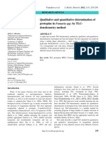 Qualitative and Quantitative Determination of Protopine in Fumaria Spp. by TLC-Densitometry Method