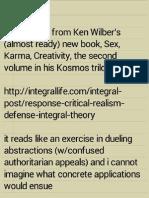 Ken Wilber's Epistemic Envy